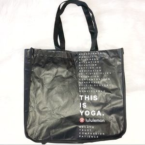 LuluLemon This is Yoga reusable large bag